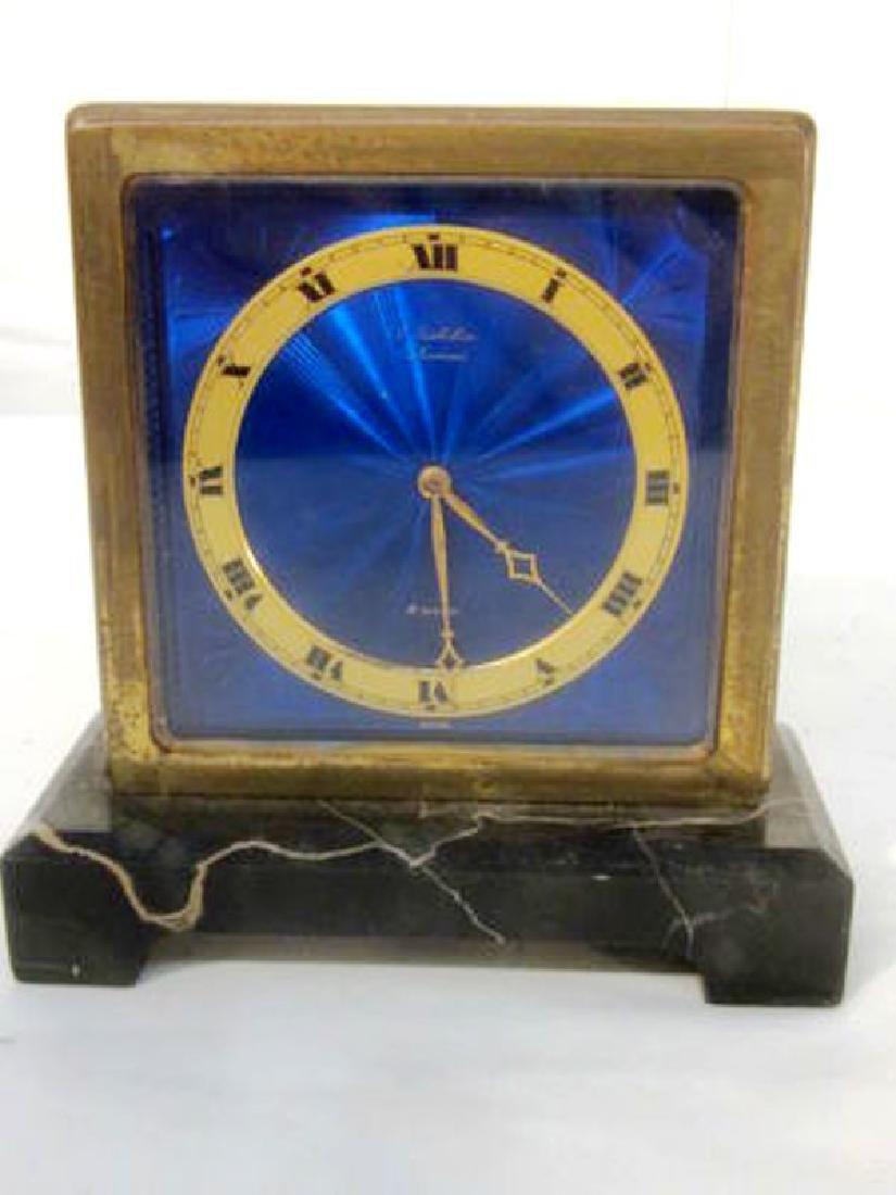2 x Enameled Gubelin Desk Clocks - 4