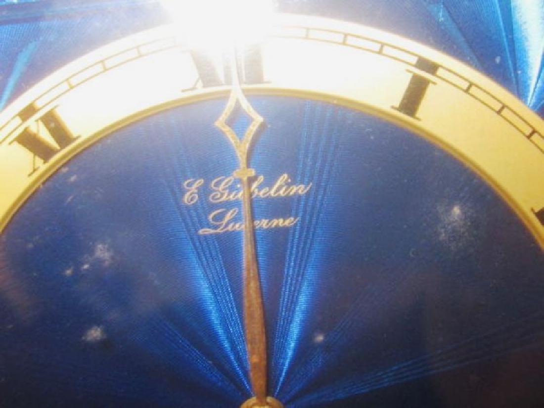 2 x Enameled Gubelin Desk Clocks - 6
