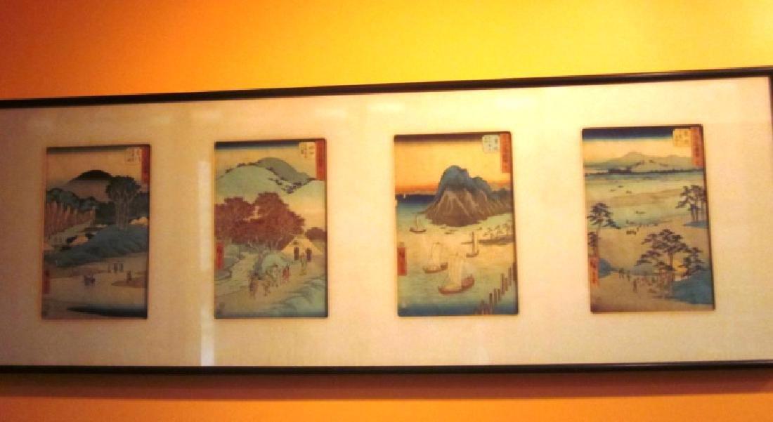Suite of 4 Japanese Wood Block Prints
