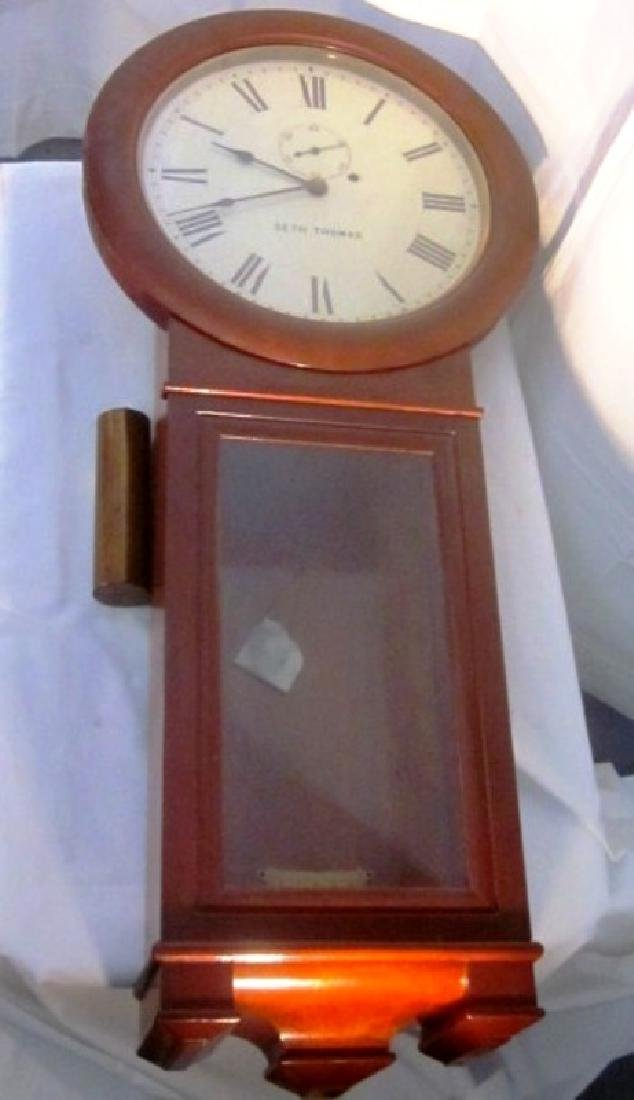 19th c Seth Thomas Walnut Long Clock