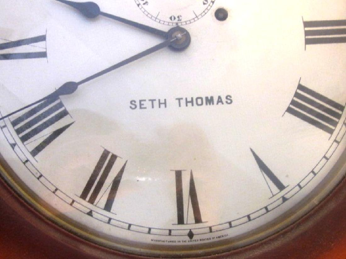 19th c Seth Thomas Walnut Long Clock - 2