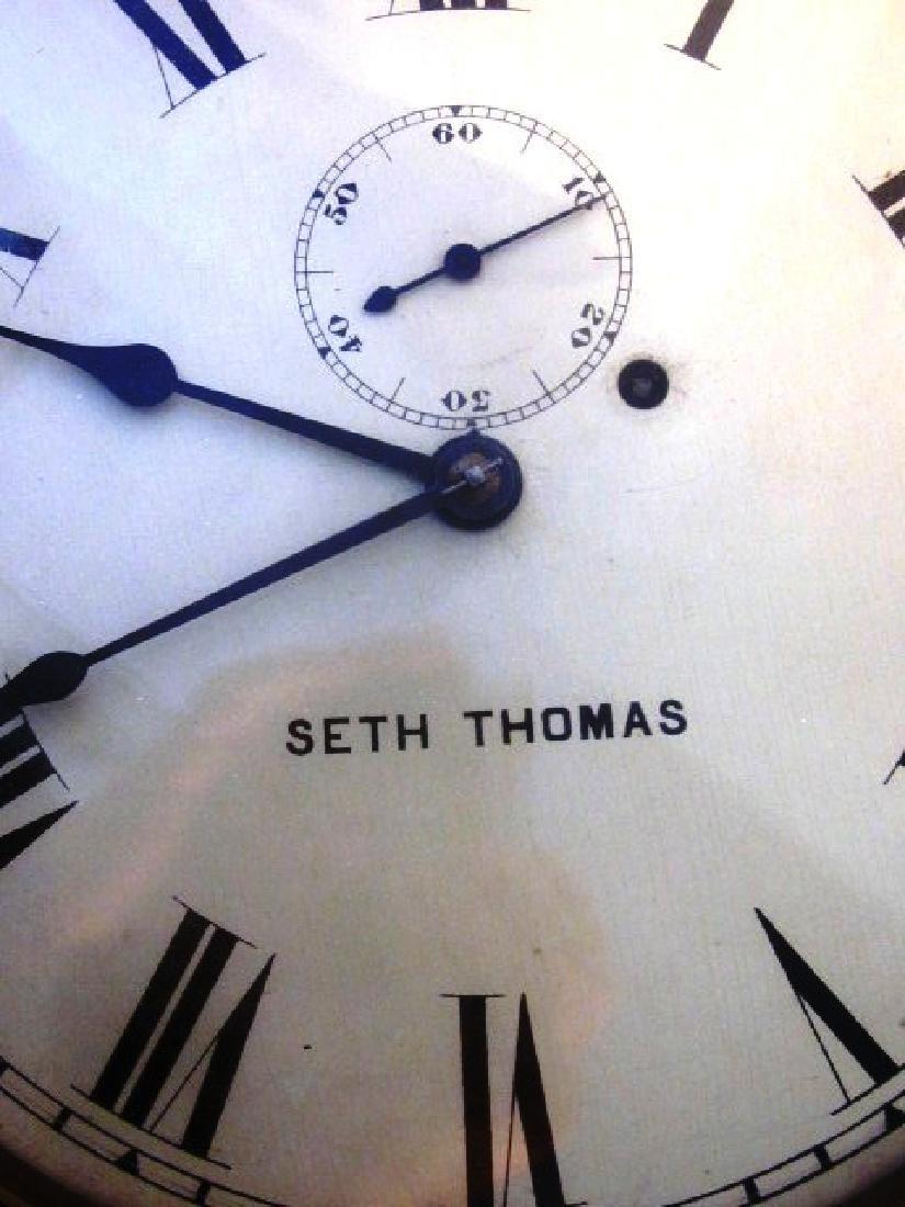19th c Seth Thomas Walnut Long Clock - 3