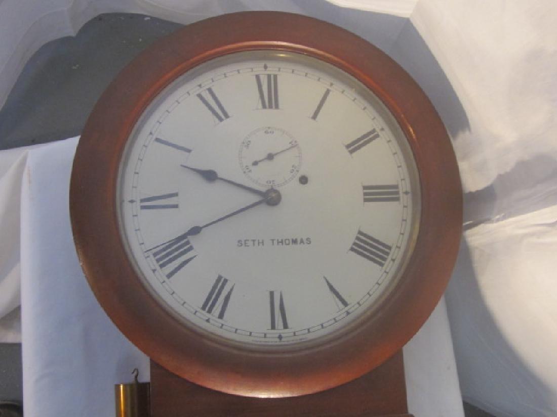 19th c Seth Thomas Walnut Long Clock - 4