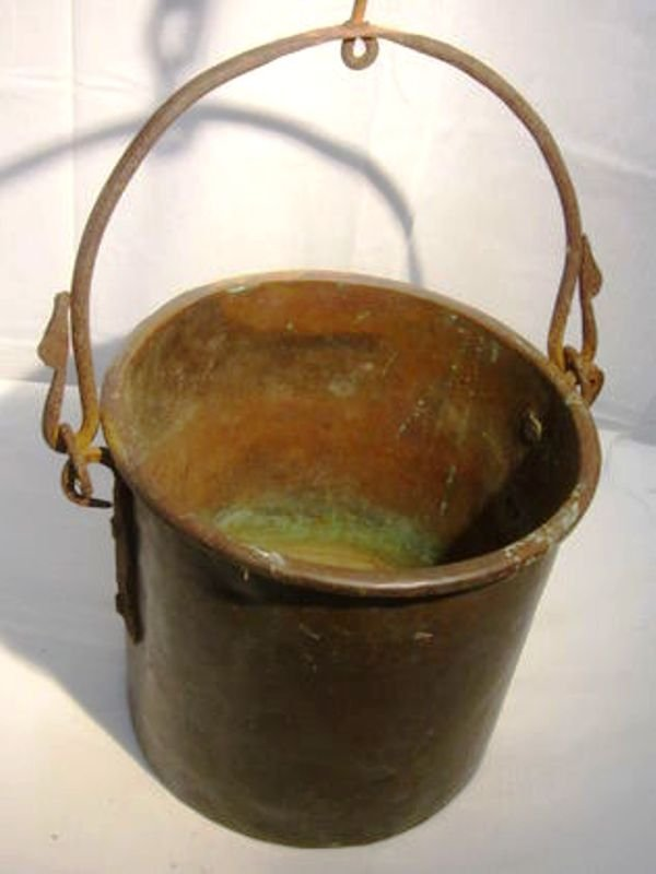 19th c  Civil War Copper Bucket