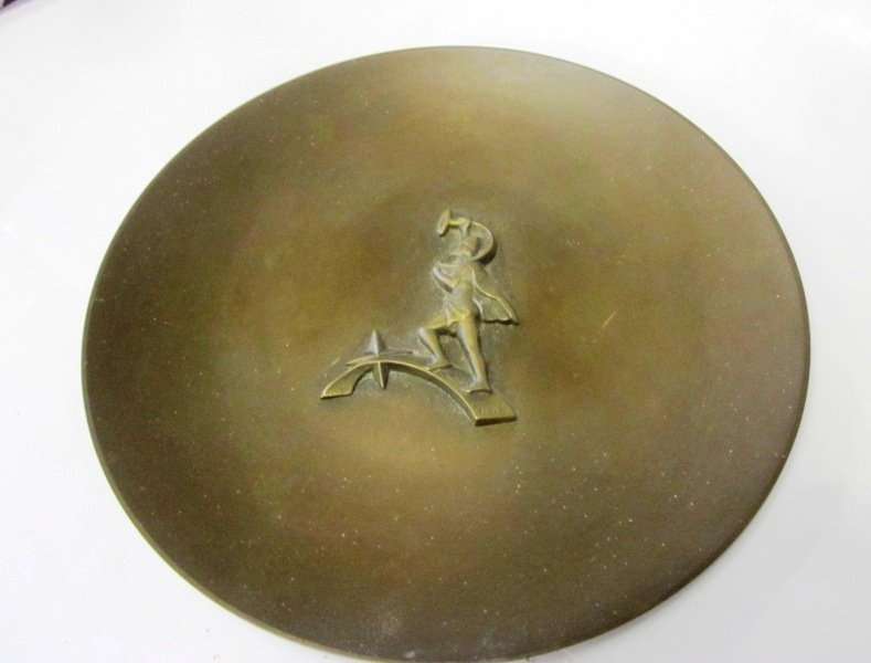 Mid Century Modern Bronze Charger