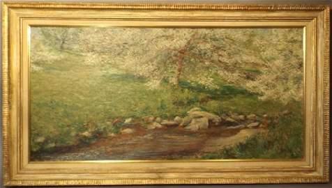o/c Landscape signed Breck (John Leslie Breck)