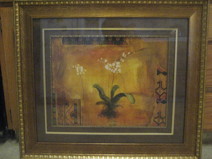 498: Large Oil Painting of Flower by Songge