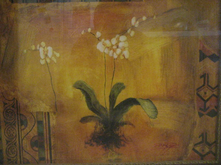 498: Large Oil Painting of Flower by Songge - 3
