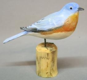 PETER PELTZ CARVING OF A BLUEBIRD