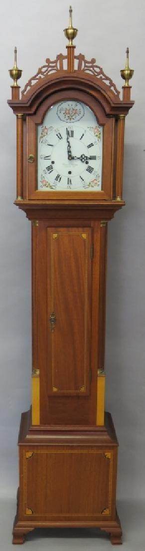 ELMER O. STENNES MAHOGANY CASED DWARF CLOCK