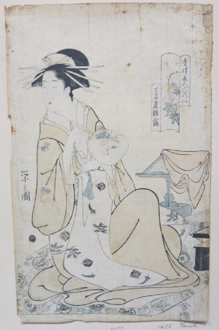 TWO CHOBUNSAI EISHI WOODBLOCK PRINTS