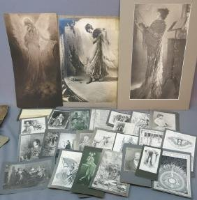 LARGE LOT OF ERIC PAPE PRINTS OF HIS ILLUSTRATIONS