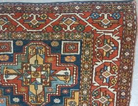 LONG PERSIAN AREA RUG WITH FIVE MEDALLIONS