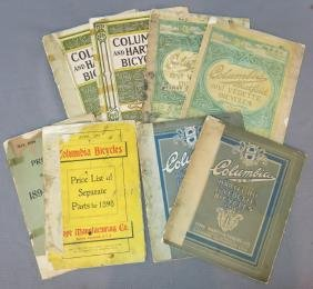 LOT OF COLUMBIA BICYCLE CATALOGUES/PRICE LISTS