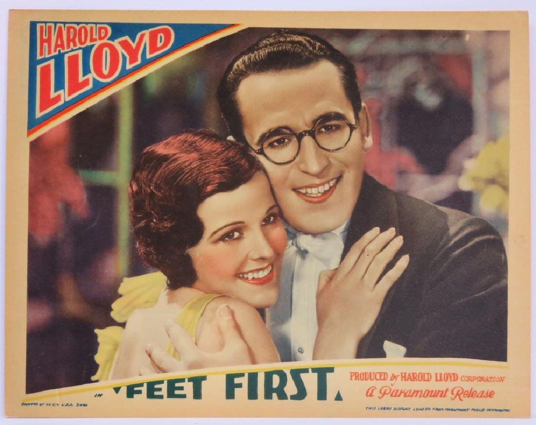 "SIX HAROLD LLOYD ""FEET FIRST"" LOBBY CARDS - 2"
