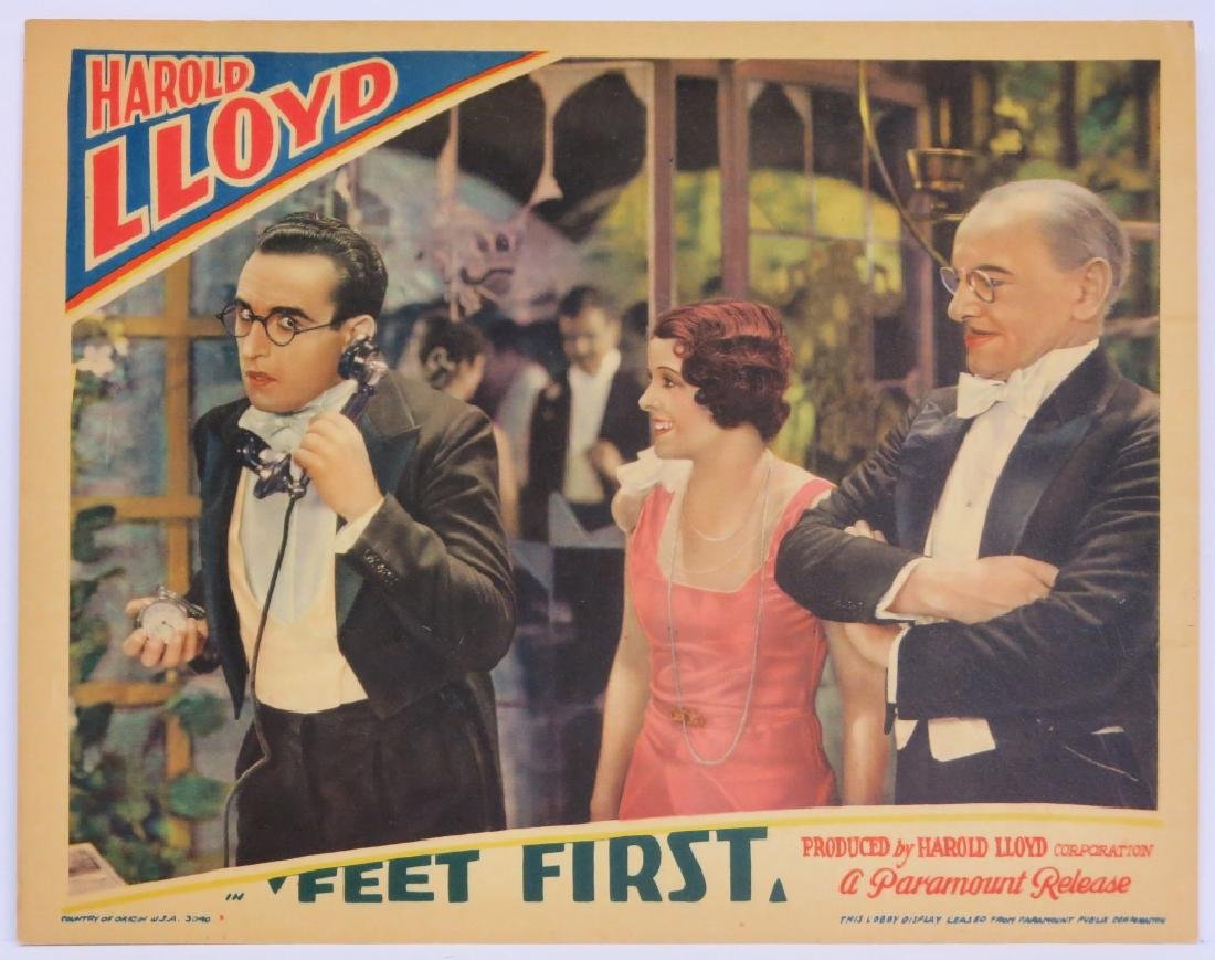 "SIX HAROLD LLOYD ""FEET FIRST"" LOBBY CARDS - 3"