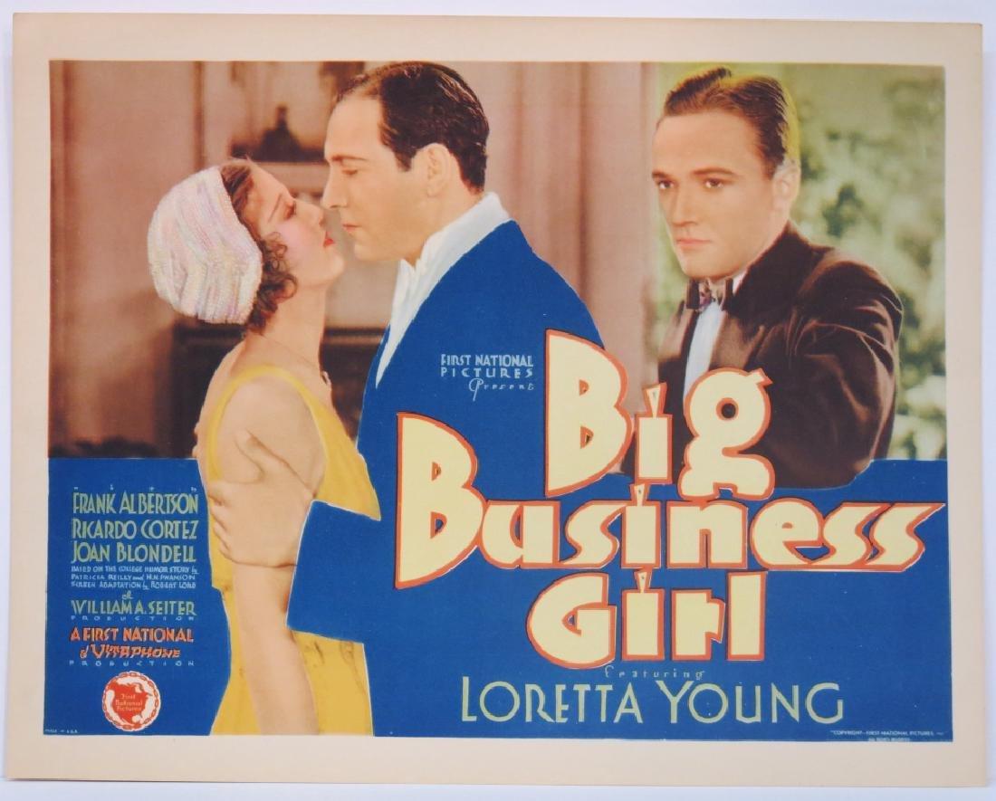 BIG BUSINESS GIRL LOBBY CARD SET - LORETTA YOUNG - 2