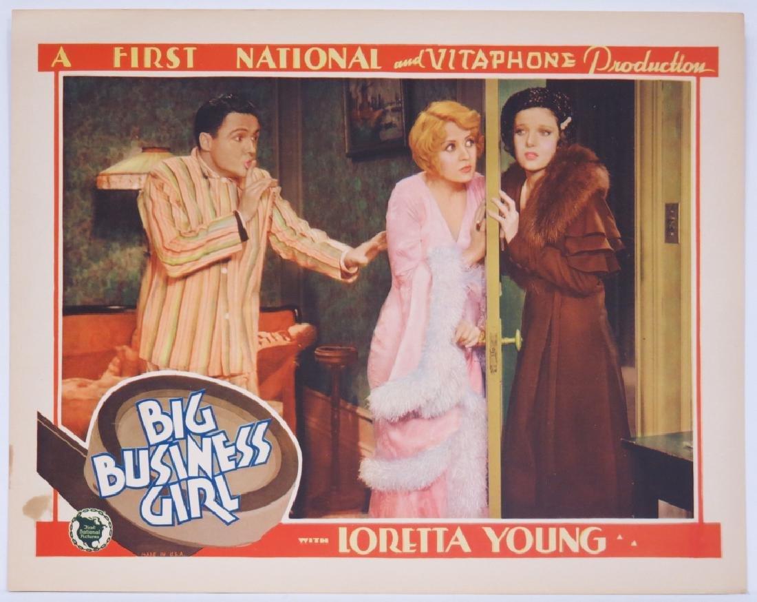 BIG BUSINESS GIRL LOBBY CARD SET - LORETTA YOUNG - 3