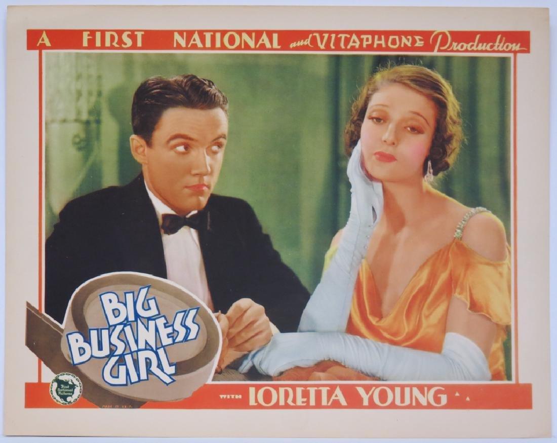 BIG BUSINESS GIRL LOBBY CARD SET - LORETTA YOUNG - 4