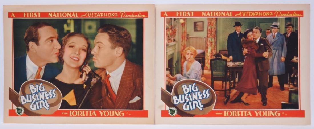 BIG BUSINESS GIRL LOBBY CARD SET - LORETTA YOUNG - 5