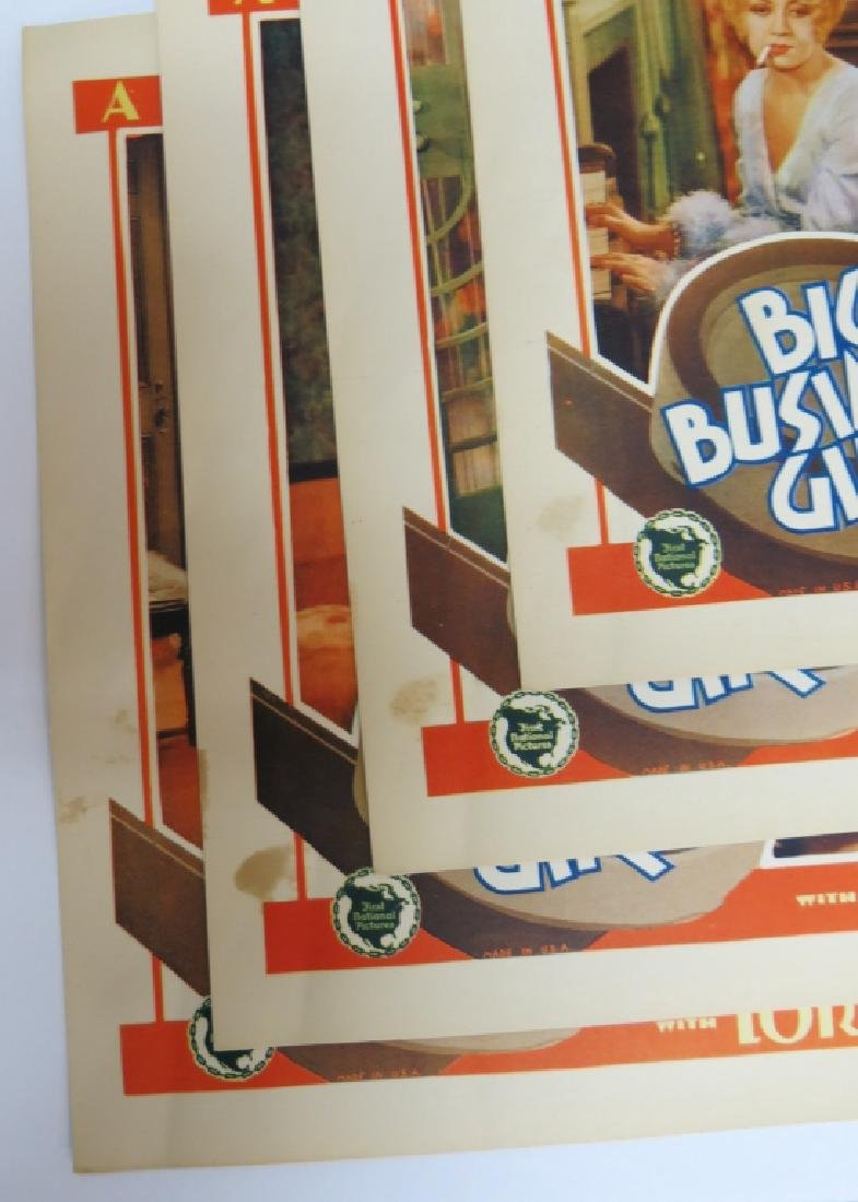 BIG BUSINESS GIRL LOBBY CARD SET - LORETTA YOUNG - 6