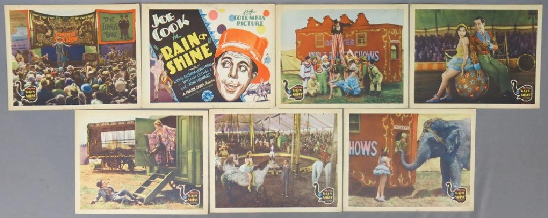 SEVEN RAIN OR SHINE LOBBY CARDS - COLUMBIA 1930