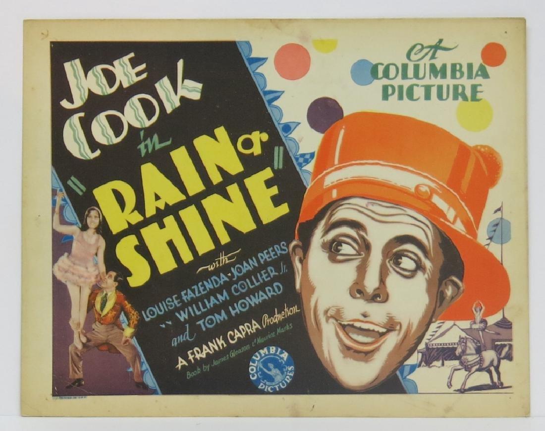 SEVEN RAIN OR SHINE LOBBY CARDS - COLUMBIA 1930 - 2