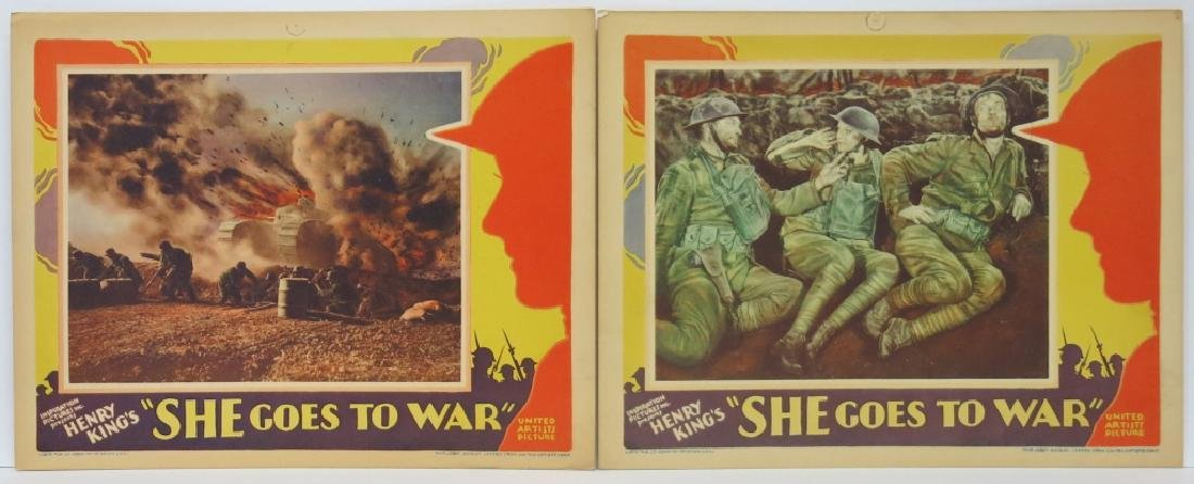 TWO SHE GOES TO WAR LOBBY CARDS - UA 1929
