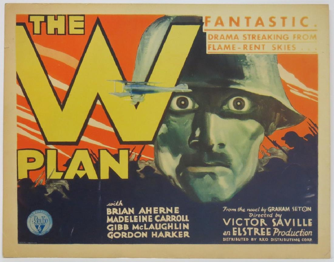 THE W PLAN LOBBY CARD SET RKO 1930 - 2