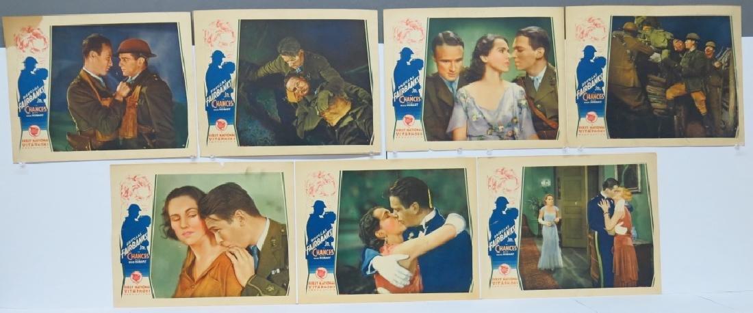 CHANCES MOVIE LOBBY CARDS (7) - DOUG. FAIRBANKS JR
