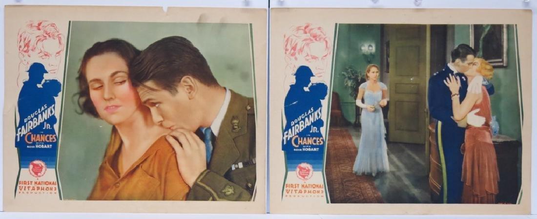 CHANCES MOVIE LOBBY CARDS (7) - DOUG. FAIRBANKS JR - 2