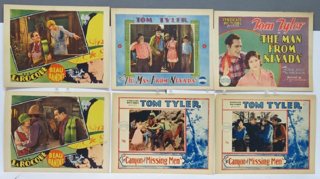LOT OF 6 WESTERN MOVIE LOBBY CARDS - TOM TYLER