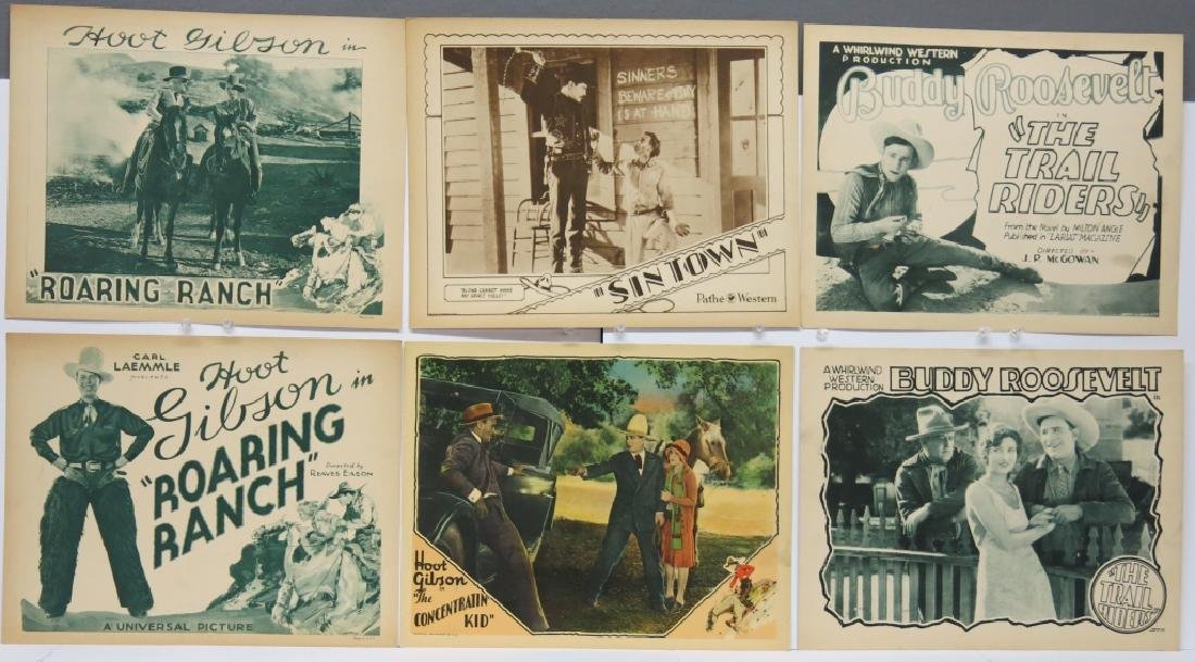 LOT OF 12 WESTERN MOVIE LOBBY CARDS