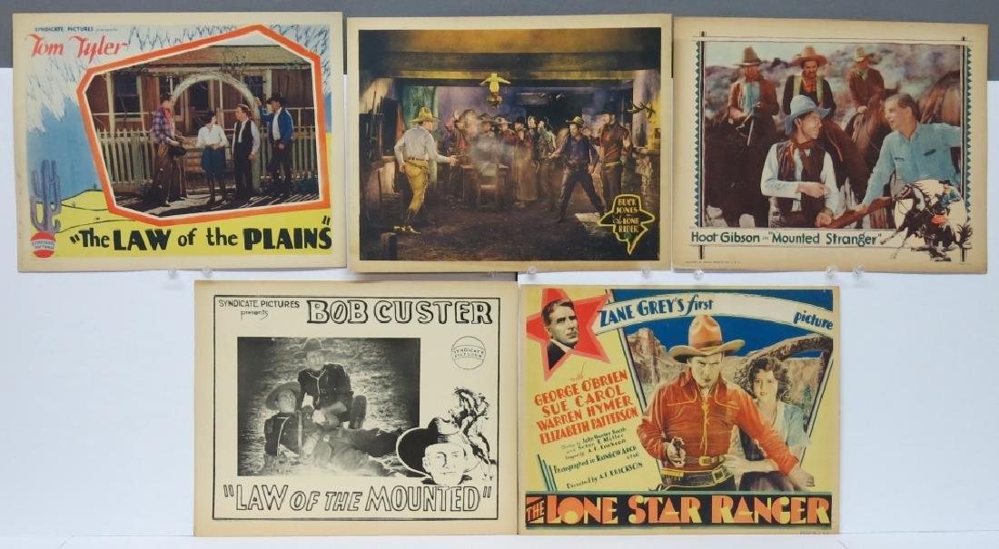 LOT OF 9 WESTERN MOVIE LOBBY CARDS