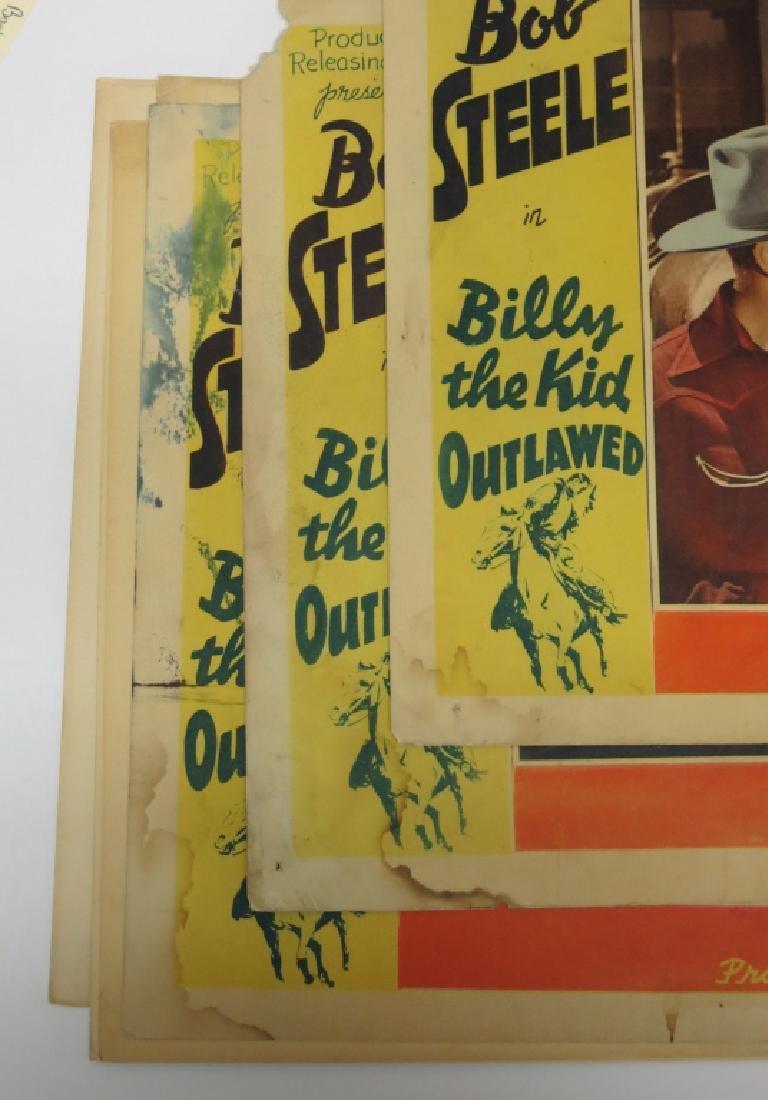 LOT OF 12 WESTERN MOVIE LOBBY CARDS - BOB STEELE - 3
