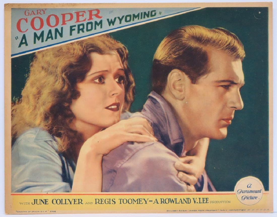 A MAN FROM WYOMING LOBBY CARD - GARY COOPER