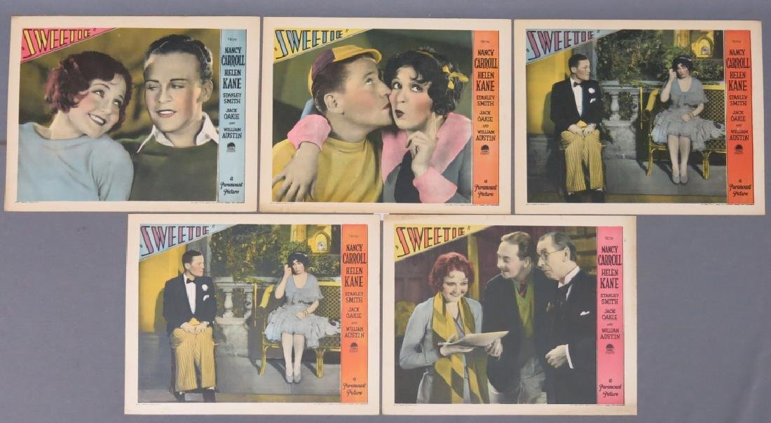 FIVE SWEETIE LOBBY CARDS - PARAMOUNT 1929