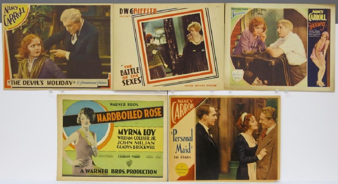 LOT OF 5 PRECODE MOVIE LOBBY CARDS - D.W. GRIFFITH