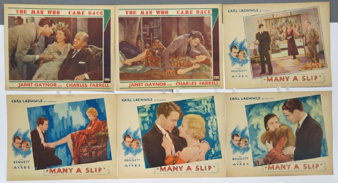 LOT OF 6 PRECODE MOVIE LOBBY CARDS