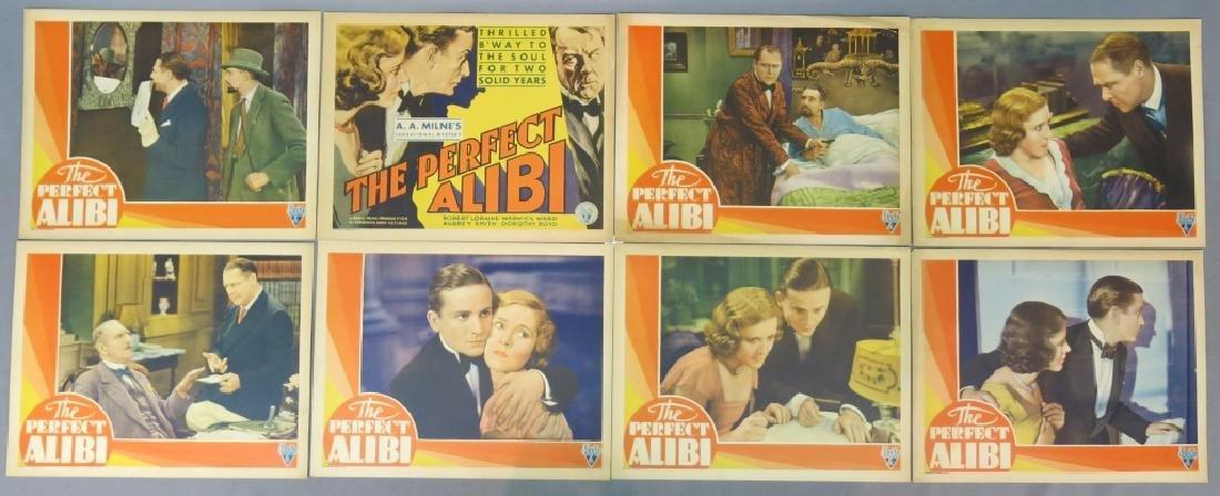 THE PERFECT ALIBI LOBBY CARD SET 1930