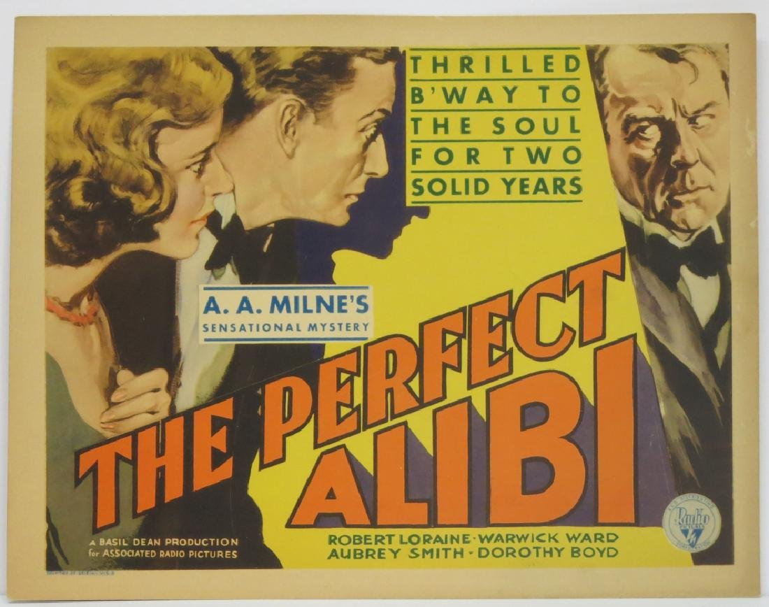 THE PERFECT ALIBI LOBBY CARD SET 1930 - 2