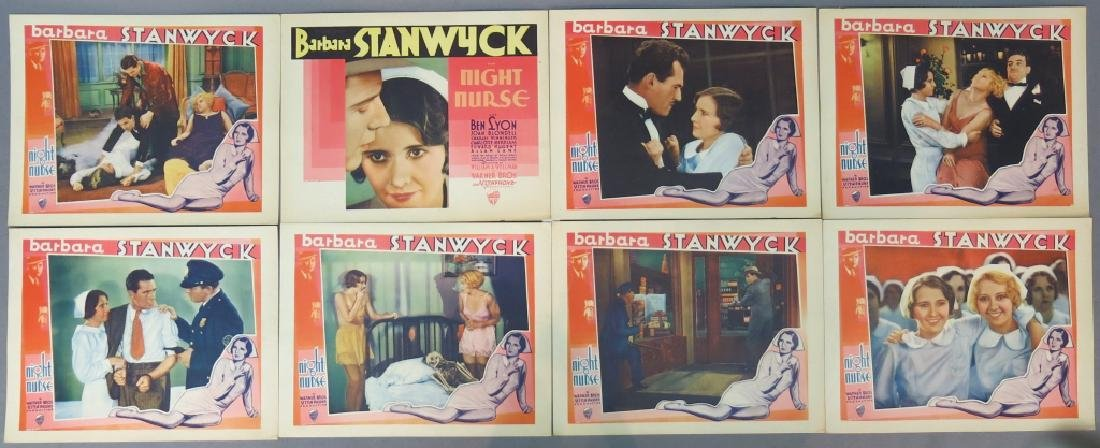 THE NIGHT NURSE LOBBY CARD SET WARNER BROS 1931