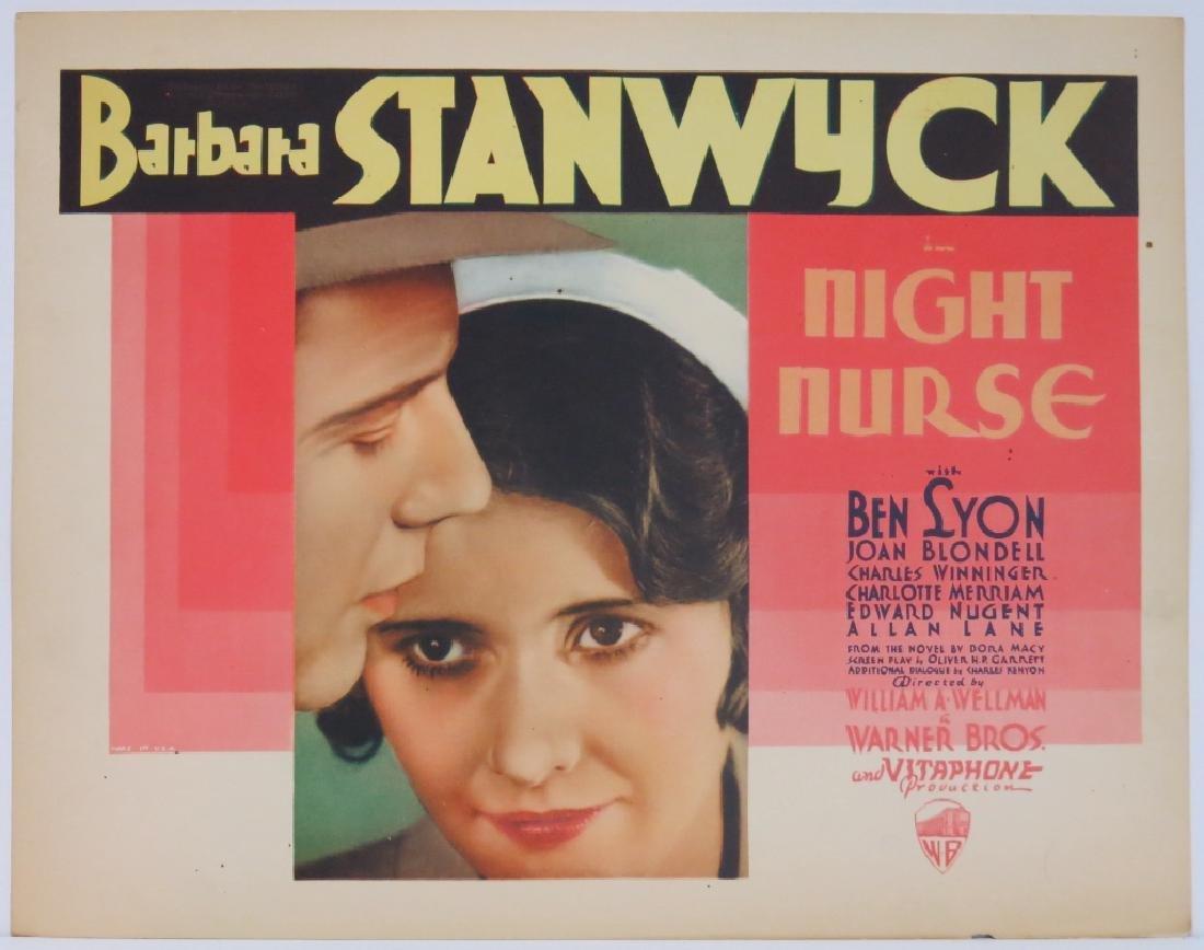THE NIGHT NURSE LOBBY CARD SET WARNER BROS 1931 - 2