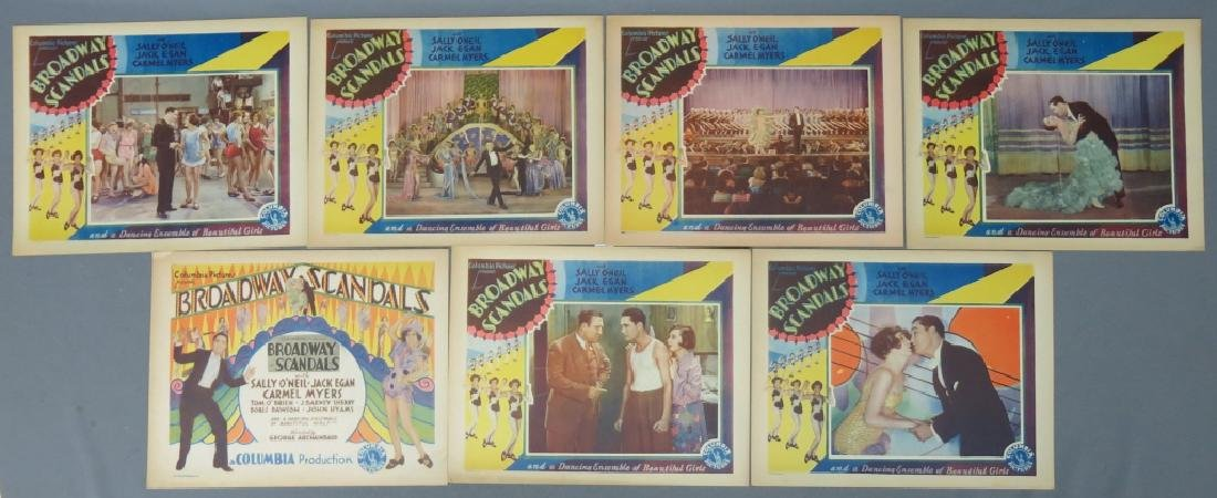 SEVEN BROADWAY SCANDALS LOBBY CARDS COLUMBIA 1929
