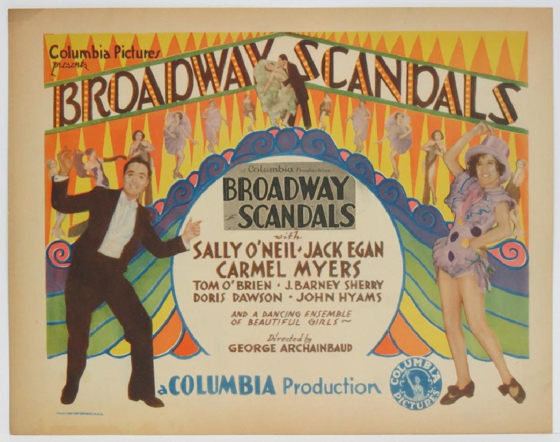 SEVEN BROADWAY SCANDALS LOBBY CARDS COLUMBIA 1929 - 2