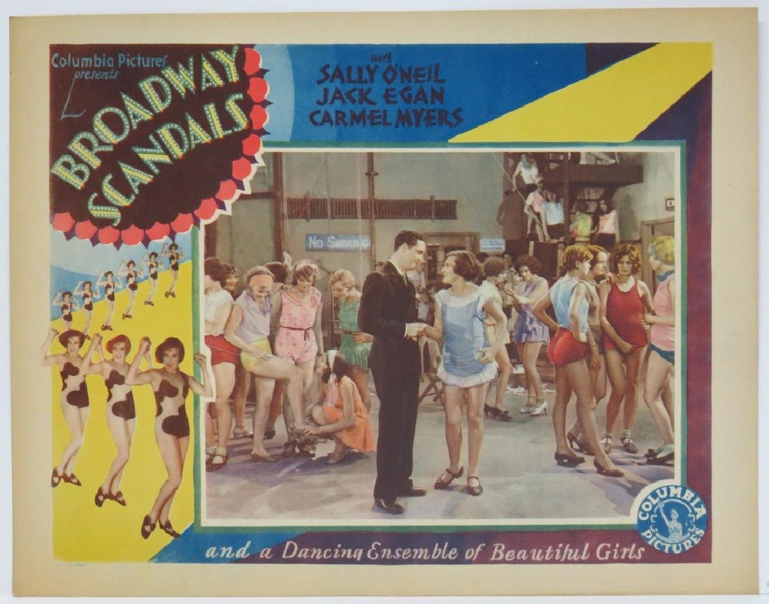 SEVEN BROADWAY SCANDALS LOBBY CARDS COLUMBIA 1929 - 4