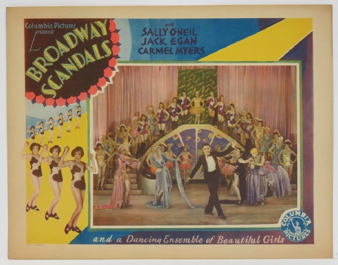 SEVEN BROADWAY SCANDALS LOBBY CARDS COLUMBIA 1929 - 5