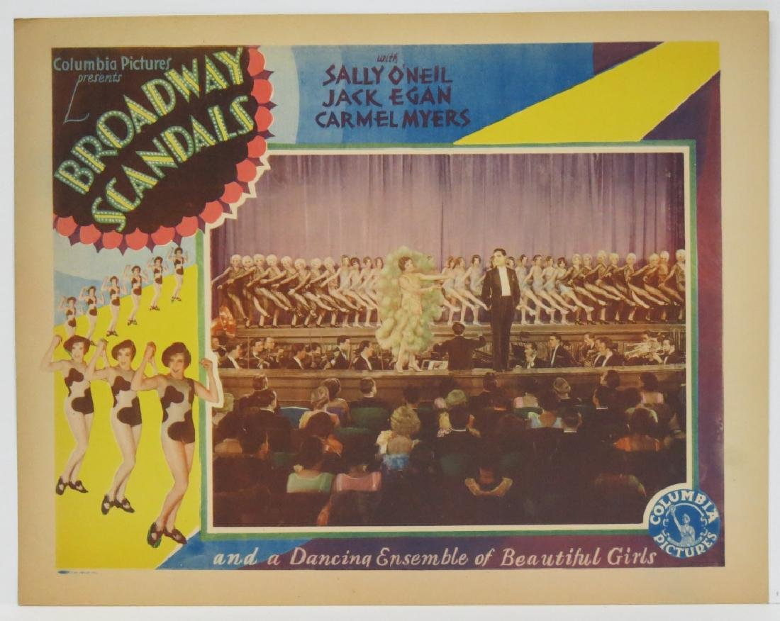 SEVEN BROADWAY SCANDALS LOBBY CARDS COLUMBIA 1929 - 6