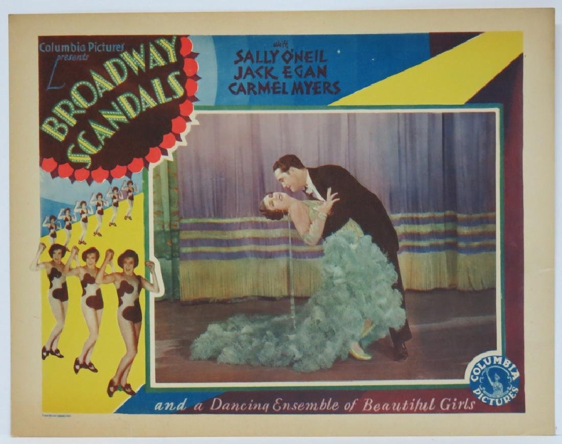 SEVEN BROADWAY SCANDALS LOBBY CARDS COLUMBIA 1929 - 7