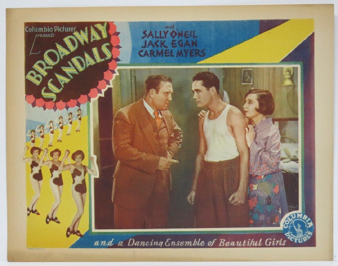 SEVEN BROADWAY SCANDALS LOBBY CARDS COLUMBIA 1929 - 8